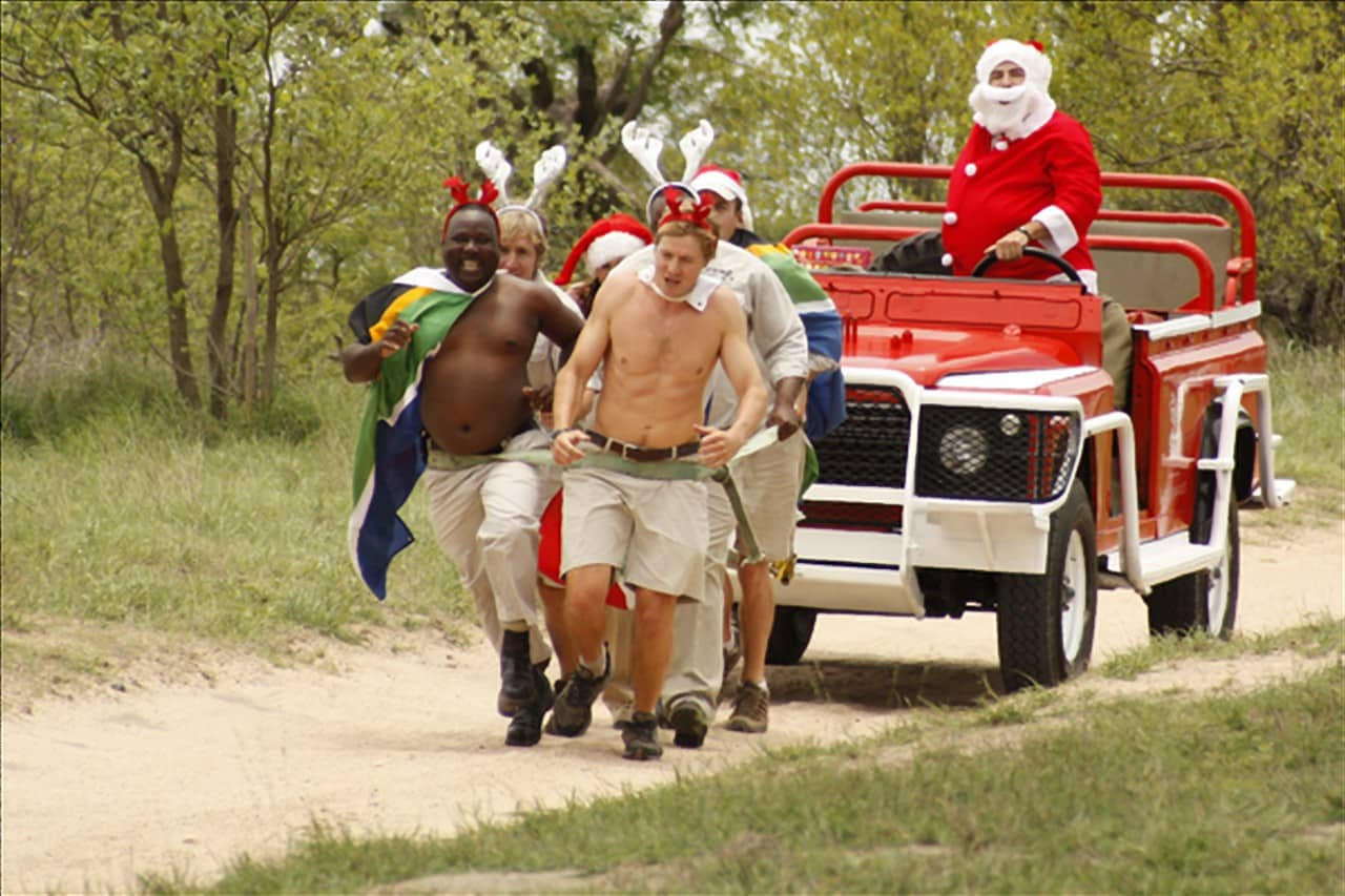 Londolozi rangers pulling sleigh