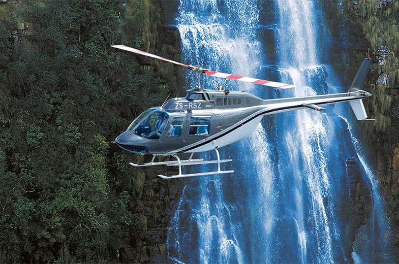 Helicopter at Blyde waterfalls