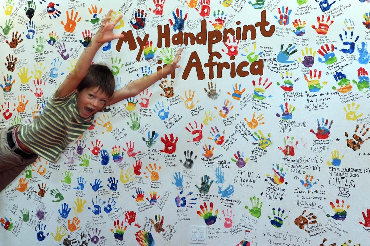 My handprint in Africa at the EleFun Centre