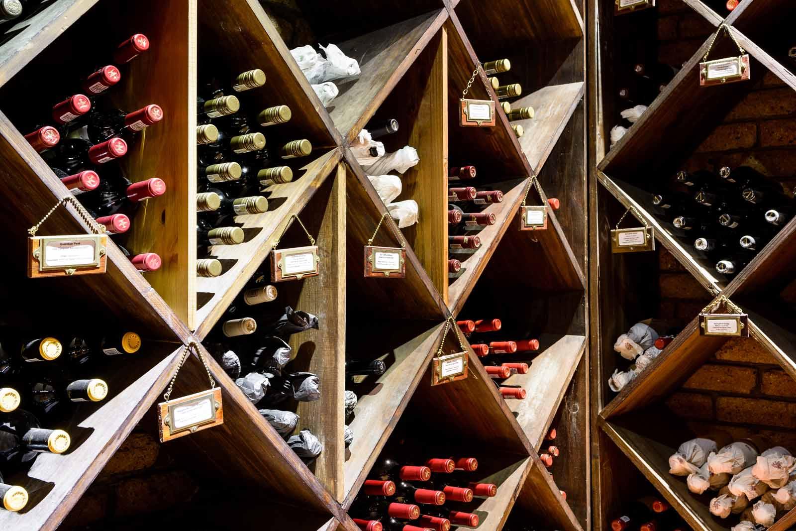 Singita wine cellar