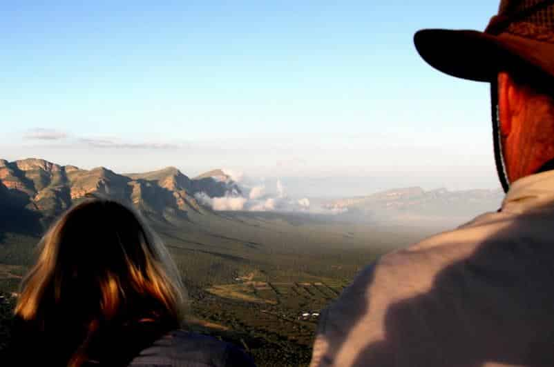 View of the Drakensberg from Kruger balloon
