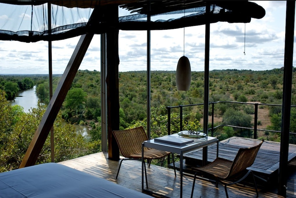 Singita Lebombo dining room view