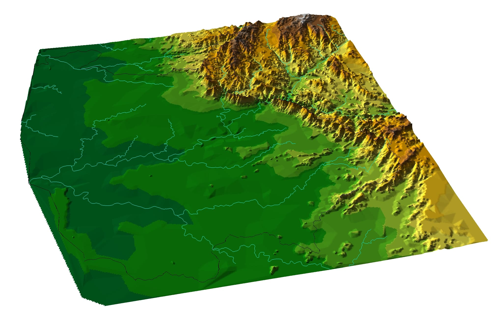 View of Blyde escarpment topology